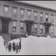 Blizzard of March 1888 Brooklyn by Breading G. Way